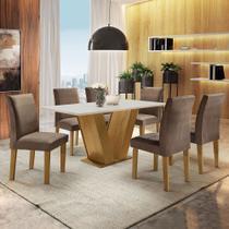 Conjunto Sala de Jantar Clássic 6 Cadeiras Clássic Ypê - Cel Móveis - Cel Moveis