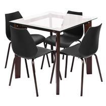 Conjunto Sala de Jantar Elegance 4 Cadeiras - Modecor -