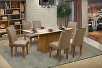 Conjunto Sala De Jantar Florença Luxo com 6 Cadeiras - Dobuê - Dobuê Movelaria