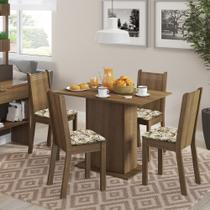Conjunto Sala de Jantar Lexy Madesa Mesa Tampo de Madeira com 4 Cadeiras -