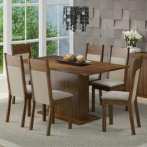 Conjunto Sala de Jantar Lousiana Madesa Mesa Tampo de Madeira com 6 Cadeiras -