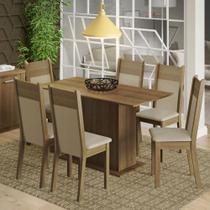 Conjunto Sala de Jantar Madesa Catarina Mesa Tampo de Madeira com 6 Cadeiras -