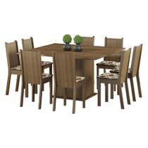 Conjunto Sala de Jantar Madesa Clarice Mesa Tampo de Madeira com 8 Cadeiras -