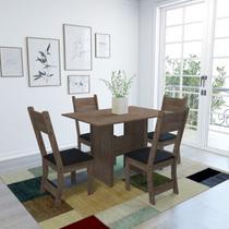 Conjunto Sala de Jantar Mesa 110cm 4 Cadeiras Vera Indekes -