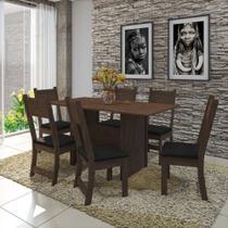 Conjunto Sala de Jantar Mesa 150cm 6 Cadeiras Vera Indekes -