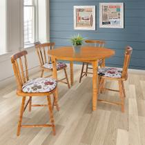 Conjunto Sala de Jantar Mesa 4 Cadeiras Dylan - Decoarte