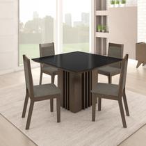 Conjunto Sala de Jantar Mesa 4 Cadeiras Malaga Somopar Savana -