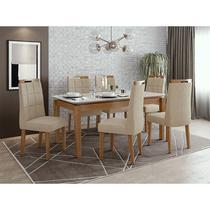 Conjunto Sala De Jantar Mesa áries 180 Cm 06 Cadeiras Nevada - Lopas
