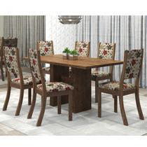 Conjunto Sala de Jantar Mesa Avenida e 6 Cadeiras Kiara Viero Grigio/Passion -