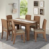 Conjunto Sala de Jantar Mesa Barbara 6 Cadeiras Cimol -