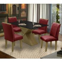 Conjunto Sala de Jantar Mesa e 4 Cadeiras Napoli Dobuê - Dobue