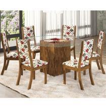Conjunto Sala de Jantar Mesa e 6 Cadeiras Mona Viero Avelã/Passion -