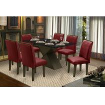 Conjunto Sala de Jantar Mesa e 6 Cadeiras Napoli Dobuê - Dobue