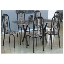 Conjunto Sala de Jantar Mesa Fabone com 6 Cadeiras Athenas -