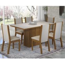 Conjunto Sala de Jantar Mesa Pomezia e 6 Cadeiras Napoli Viero -