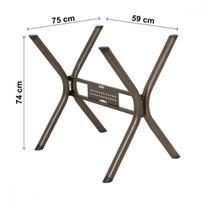 Conjunto Sala de Jantar Mesa Tampo BP TOK e 4 Cadeiras Luna Ciplafe -