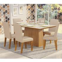 Conjunto Sala de Jantar Mesa Tucson e 6 Cadeiras Vênus Viero -