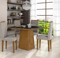 Conjunto Sala de Jantar Nevada 100 4 Cadeiras Dafine Rovere Soft Lopas -