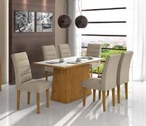 Conjunto Sala de Jantar Nevada 180 6 Cadeiras Fiorella Rovera Soft Lopas -