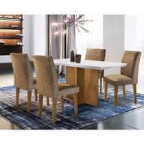 Conjunto Sala de Jantar Olimpia com 4 Cadeiras Grécia Rufato -