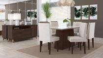 Conjunto Sala De Jantar Positano Mesa 1,70M 6 Cadeiras Alamo Champagne - Lukaliam -