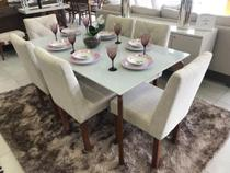 Conjunto Sala de Jantar Top Light e 6 Cadeiras Rubi - D'Confort Design