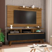 Conjunto Sala TV Rack Rubi 3 Portas Painel Chanel 55 Pol. - Moveis Bechara