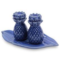 Conjunto Saleiro e Pimenteiro Abacaxi em Cerâmica - Cores - Scalla