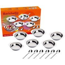 Conjunto Sobremesa 12 Peças Jogo Potes Colher Inox Cozinha - Barichello - Brinox