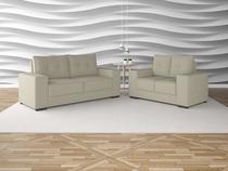 Conjunto sofas 3 e 2 lugares net destaque areia - Netsofas