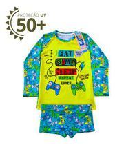 Conjunto Sunga Infantil Com Blusa Proteção Uv50 Térmica Kids - Dubabox