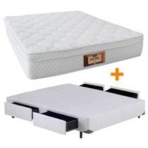 Conjunto Super Blanc CASAL Box 4 Gavetas Branco - 128x188 - Dabe