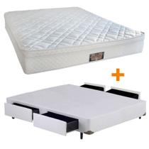 Conjunto Super Support CASAL Box 4 Gavetas Branco -138x188 - Dabe