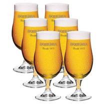 Conjunto Taças Copo para Cerveja Bohemia 380 ml 6 Peças - Ambev