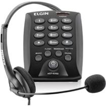 Conjunto Telefonista Headset Hst6000 Elgin -