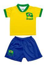 Conjunto Uniforme Infantil Brasil - Torcida Baby -