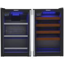 Conjunto Venax Cervejeira Blue E Adega Piubella 100 Litros preto fosco Porta Invertida 110V - Venax Eletrodomesticos Ltda