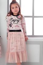 Conjunto vestido e saia sobreposição infantil butterfly 350 - Petit Cherie