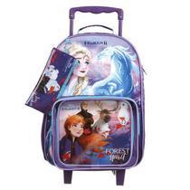 Conjunto Volta às Aulas - Mochila com Rodinhas, Lancheira e Estojo - Disney - Frozen 2 - Dermiwil -