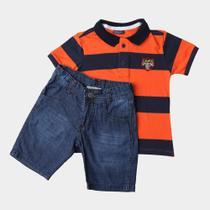 Conjuntos Lapsi Infantil Polo M/C+Walk Jeans -