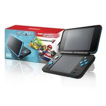 Console New Nintendo 2DS XL Preto e Turquesa + Mario kart 7 2DS XL Nintendo -