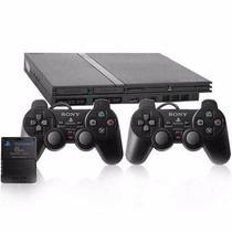 Console Playstation 2 Slim Play 2 Ps2 REPARADO + 2 Controles + Memory Card 8MB - Sony