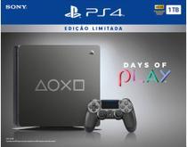 Console Playstation 4 - 1 Tb - Edição Limitada Days Of Play - Oficial Sony Brasil -