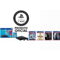 Console Playstation 4 1TB Bundle Fifa 19 + 4 Jogos Hits + Controle Dualshock 4 Preto - PS4 - Sony