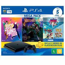 Console PlayStation  4 HITS 11 1TB com Controle DualShock 4 + 2 Jogos + 3 Jogos PlayLInk - Sony