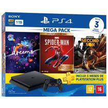 Console Playstation 4 Hits 1TB Bundle 17 - Dreams + Marvel's Spider-Man + Infamous Second Son - PS4 - Sony