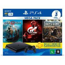Console PlayStation  4 Hits V12 + 1 Controle DualShock 4 + Jogos - Sony
