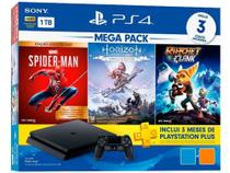 Console PlayStation 4 Mega Pack Hits V15 1TB Com 3 Jogos - Sony