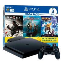 Console PlayStation 4 Mega Pack V18 1TB Ghost of Tsushima + God of War + Ratchet & Clank -