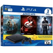 Console Playstation 4 Slim 1 TB 2115B C/ God Of War,Uncharted 4,Gran Turismo + PSN Plus 3 Meses - Sony